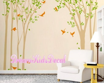 Boom muur stickers kwekerij muur sticker kinderen kamer decor etsy