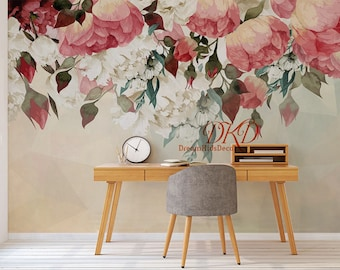Floral mural Etsy