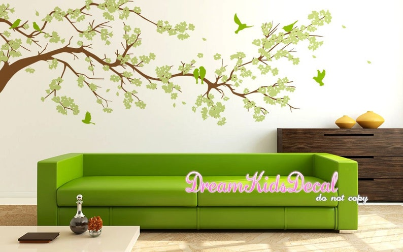 Cherry Blossom Tree Murals-DK220 Cherry blossom wall decals tree decals baby nursery kids flower floral nature wall stickers