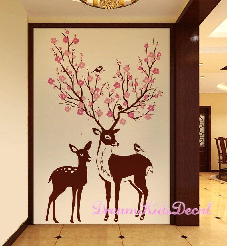deer wall decals deer decal nursery wall decal baby deer | etsy