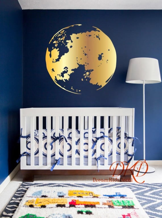 moon decal baby room wall decor stickers moon wall arts | etsy