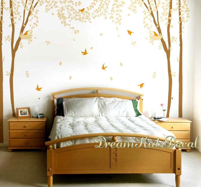 Wandtattoo, Kinderzimmer Wandsticker, Wandtattoo Baum, Wandtattoo für  Wohnzimmer-charmant Frühlingsbaum mit Vögeln-DK184L