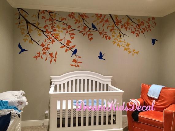 Kinderzimmer Wandtattoo Vogel Aufkleber Baum Wandtattoo Etsy
