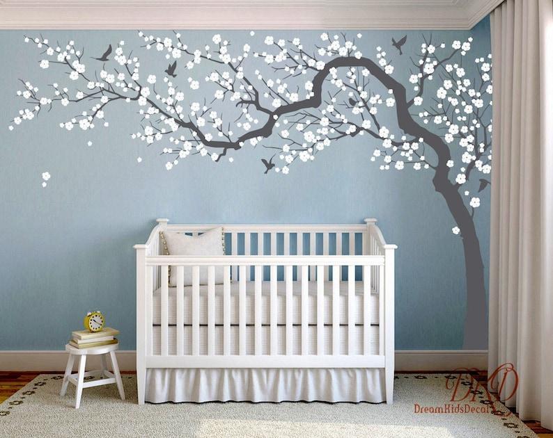 Decoratie Boom Kinderkamer.Muur Sticker Charmante Roze Bloesem Boom Kersenbloesem Boom Etsy