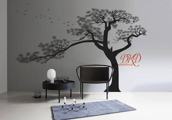 Familie Baum Wandtattoo Wandtattoo Baum Zypresse Kiefer Etsy