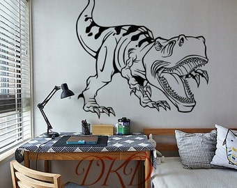 Dinosaur decal,  dinosaur wall decal, dinosaur wall art, dinosaur wall decor, dinosaur stickers, Baby boy Nursery Wall Stickers T-REX-DK281