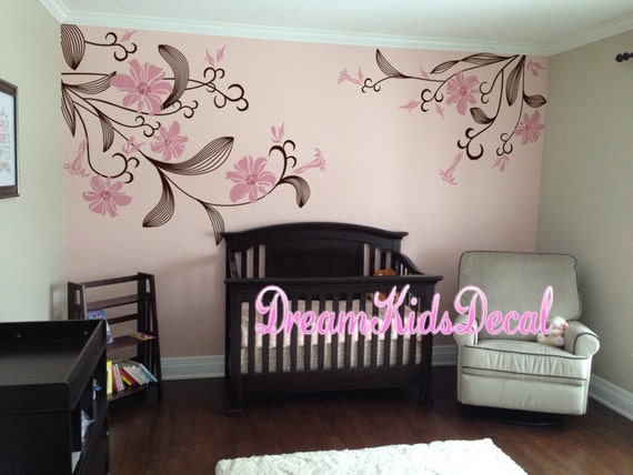 Swell Removable Flowers Wall Decal Baby Girl Nursery Wall Sticker Wall Decals Lily Flowers Dk061 Download Free Architecture Designs Rallybritishbridgeorg