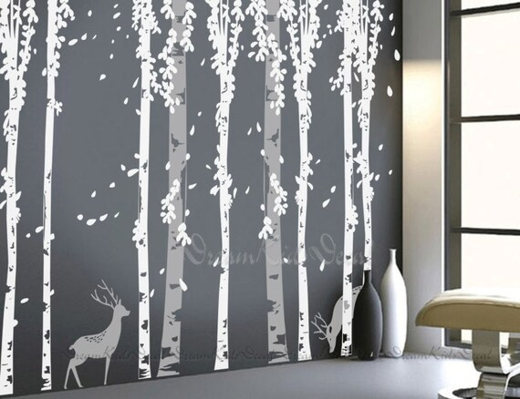 tree decal wall decals nature wall decals vinyl wall decal | etsy
