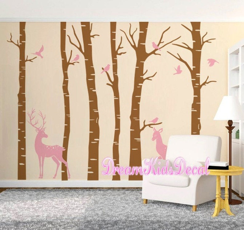 woodland wall decal nature wall decals vinyl wall decals | etsy