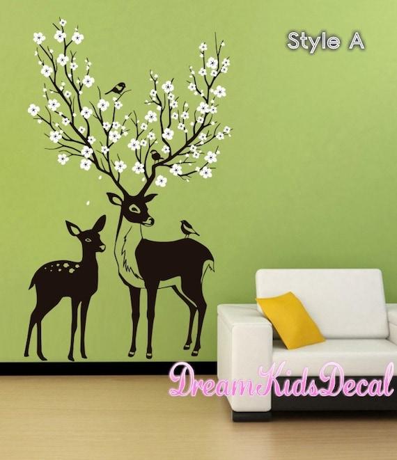deer decal deer wall decals nursery wall decal baby deer | etsy