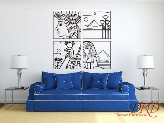 Egyptian Wall Decor Epyptian symbol wall decal DIY Vinyl | Etsy