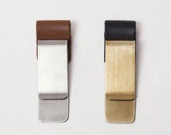 1 pcs Traveler's notebook brass clip / Money Clip wih the Pen tape (C03)