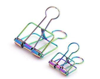 51mm / 32mm / 19mm Rainbow Style Hollow Out Long Tail Clip / Binder Clip (C013)