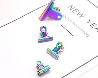 25mm / 32mm / 50mm  Colorful Documentary Notes Paper Clips / Financial Office Supplies Ticket Folder(C011)
