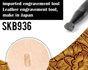 1pcs Leather Carving for Leather Craft, DIY Leather Craft Stamp for Hand Stamping Custom Steel Seal,Steel Leather Engrave Tool (SKB936)
