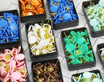 50pcs Colorful Pushpin / Drawing Pin / Thumbtack / 10 colors to Choose (C05)