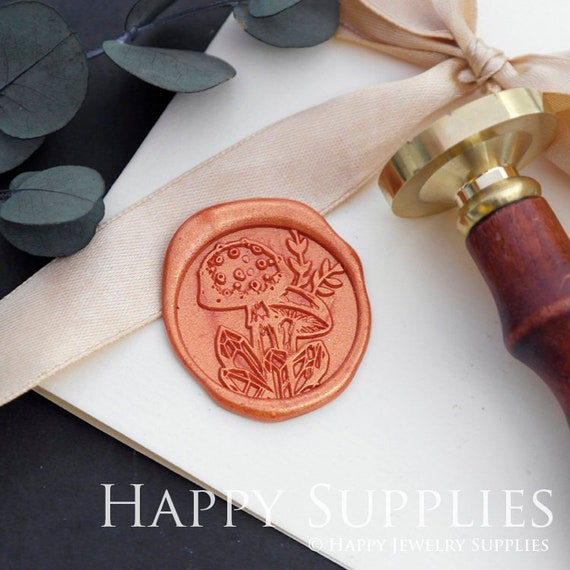 Wax Seal Stamp Mushroom,Sealling Wax Seal Head,Gifts Wrapping Metal Stamp,Wax Seals Kit