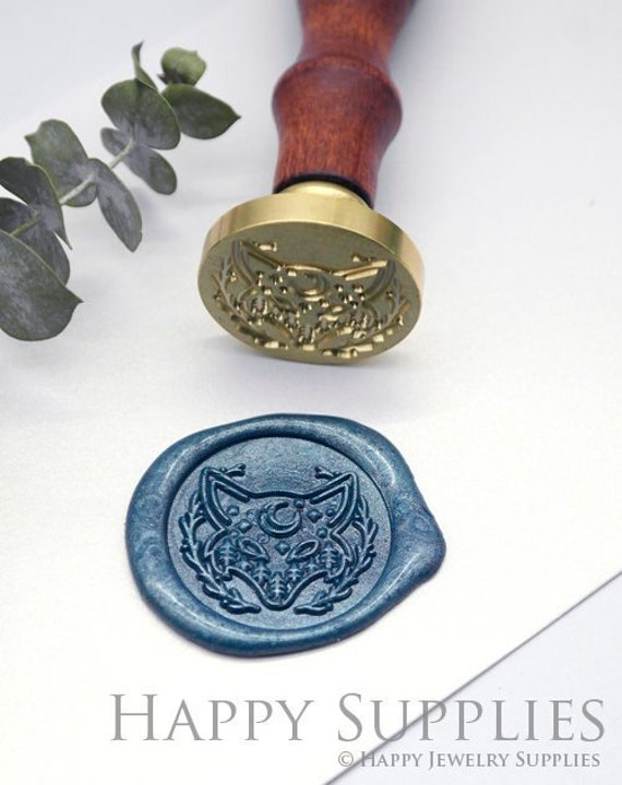 WS809 Wax Seal Stamp 1pcs 30mm Oval Floral Flower Stamp  Wedding Wax Seal Stamp  Sealing Wax Stamp