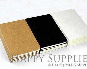 Kraft Notebook - 5 A6 (64k /10x14mm) Blank Kraft Notebook (NO LOGO or Marks on Cover) / School Supply / Bulk Journal Sketchbook