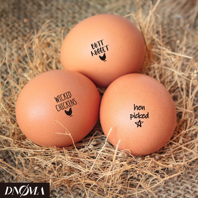 Custom Egg Carton Stamp Egg Stamp Set Butt Nuggets Rubber Stamp Mix /& Match Yumi Egg Stamp Fram Chicken Egg Stamp
