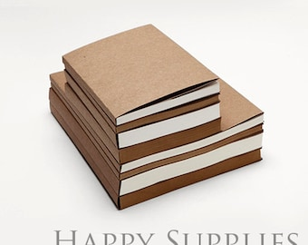 1pcs 16K / 32K Kraft Paper Cover Sketch Blank Book / Hand Draw Book / Sketch Book, can choose 2 style inner paper