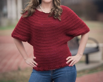 Instant Download- Crochet Pattern- Victoria Sweater