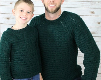 Men's Pullover Sweater Crochet Patterns, Dude Pullover, Instant Download