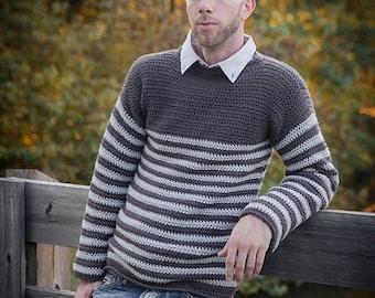 Mens Crochet Sweater Etsy