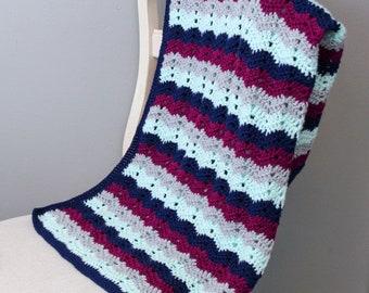 Crochet Blanket Pattern, Chevy Blanket, Instant Download