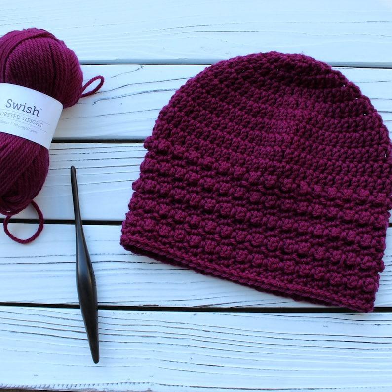 Crochet Hat Pattern Little Textures Hat Instant Download image 0