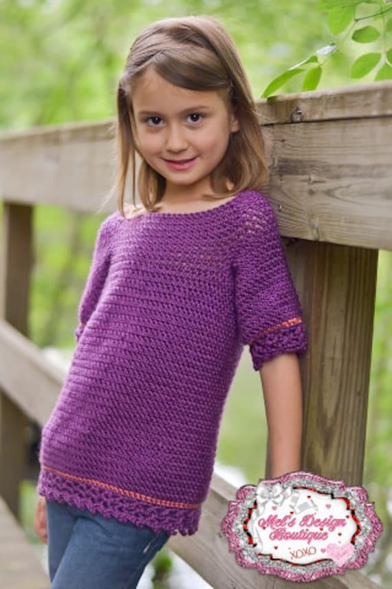 Crochet Pattern Crochet Sweater Childrens Layla Tunic Etsy