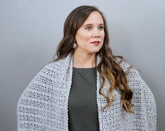 Crochet Wrap Pattern- Katie Wrap- Instant Download
