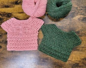 Little Textures Baby Sweater Crochet Pattern, Children's Sweater, Instant Download