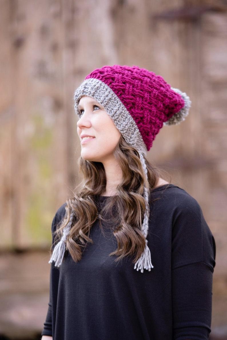 Celtic Weave Hat Crochet Pattern Cabled Crochet Hat Mini image 0