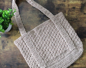Crochet Bag Pattern, Michelle Tote, Instant Download