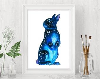 "Art Print ""Star constellation series"" rabbit"