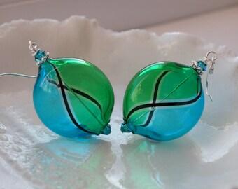Venetian Murano Blown Glass Earrings