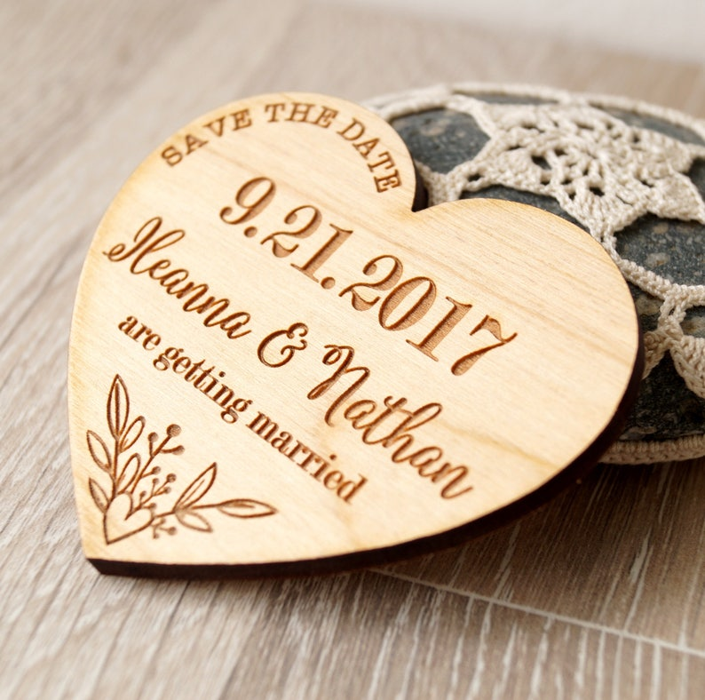 wedding announcement magnets set of 25 Save the date magnets heart magnets wedding save the dates