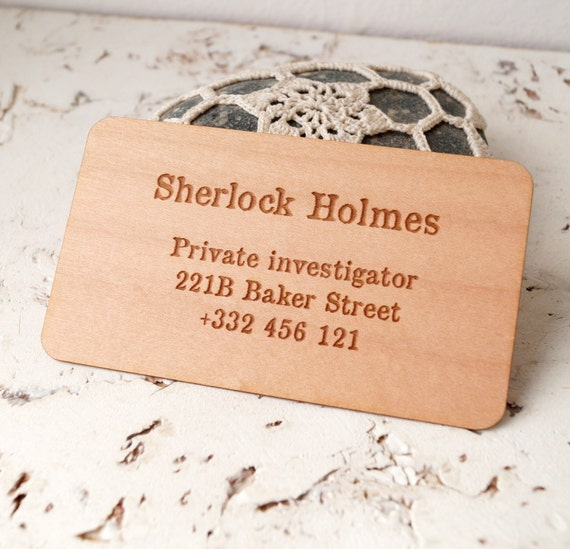 Wooden veneer business cards laser engraved business cards etsy colourmoves