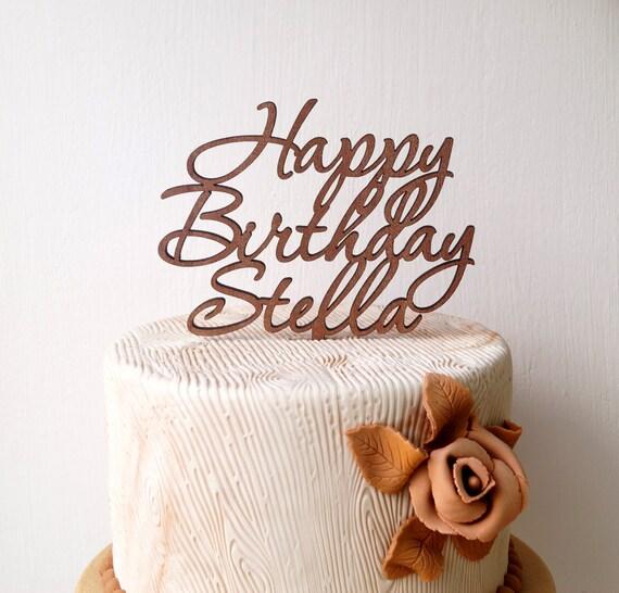 Spersonalizowane Topper Tort Urodzinowy Niestandardowe Ciasto Etsy