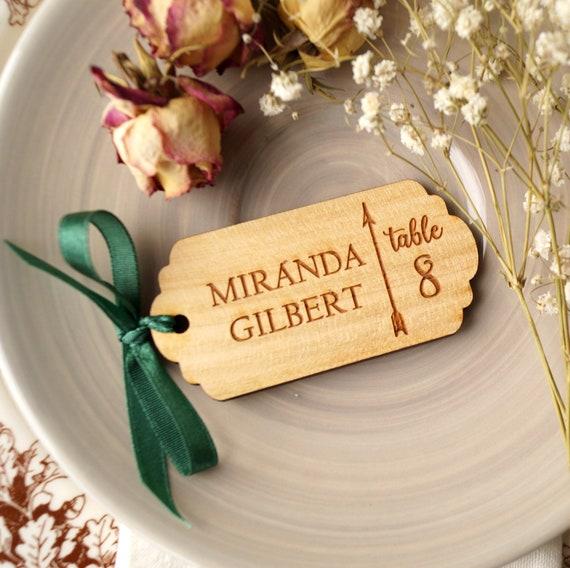 Tischkarte Hochzeit Holz Laser Gravierte Ort Tag Etsy