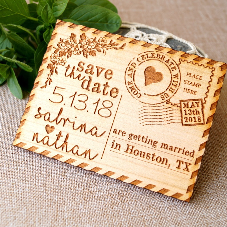Save the date save the date magnet rustic save the date image 0
