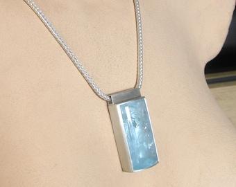 Aquamarine in silver
