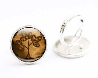 Tree Ring, Tree Jewellery -  Abstract Tree Jewelry,  Adjustable Ring, Gift For Her, Nature Jewellery, Fall Jewelry