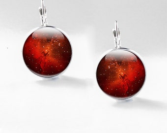 Science Earrings - Physics Jewelry - Space earrings - Glass Science Jewelry (physics 4)