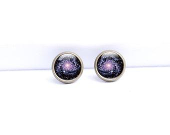Space Stud Earrings, Stud Earrings Galaxy, Space Earrings, Galaxy Studs (SES1)