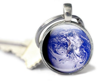 Planet Earth Gifts, Earth Keychain, Planet from Space, Earth Gifts