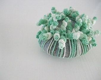 haak / kant van steen, kiezel, home deco, papiergewicht, handgemaakte cadeau, tafelblad deco