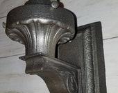 Antique Wall Sconce Exterior Cast Iron Heavy Art Nouveau Salvage