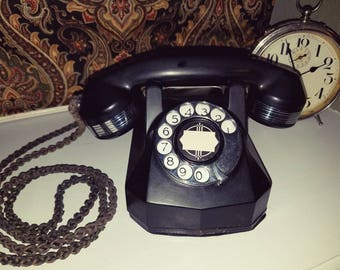 Gorgeous Art Deco Automatic Electric Bakelite Telephone Vintage 1930s AE40 Princess